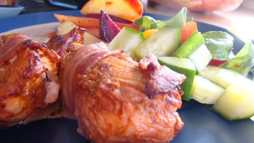 Baconlindad kyckling (1/3)