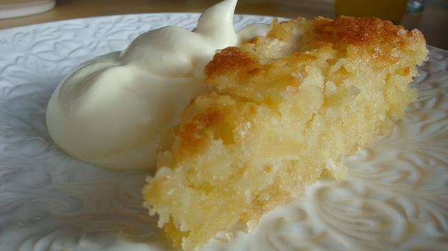 Glutenfri äppelkaka med kokos